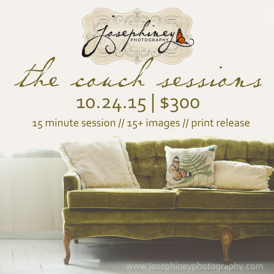 Josephiney Photography, LLC | {The Couch Sessions | Vintage Couch ...